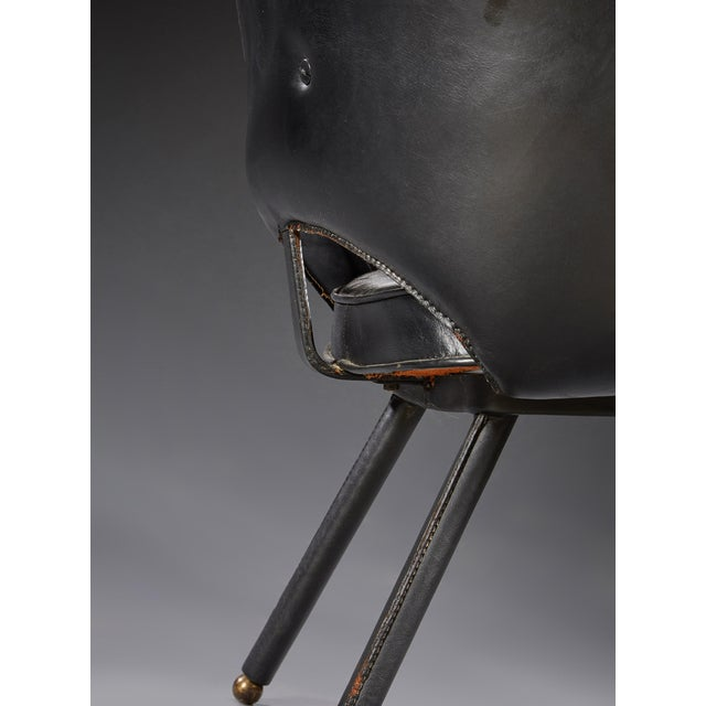 Jacques Adnet Jacques Adnet (1900-1984), Pair of Armchairs, Circa 1960 For Sale - Image 4 of 8