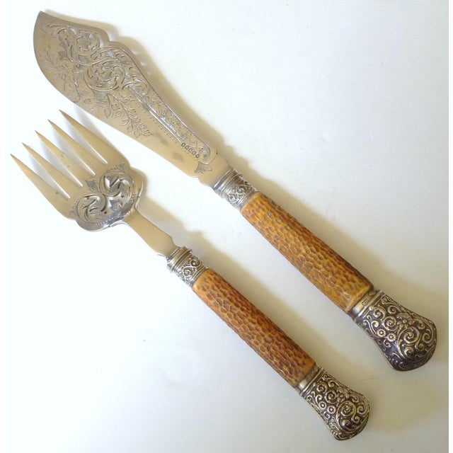 English Fish Servers, Pair For Sale In San Francisco - Image 6 of 6