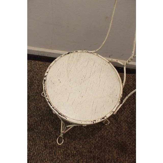 Vintage Ice Cream Heart-Back Wire Side Chair - Image 7 of 11