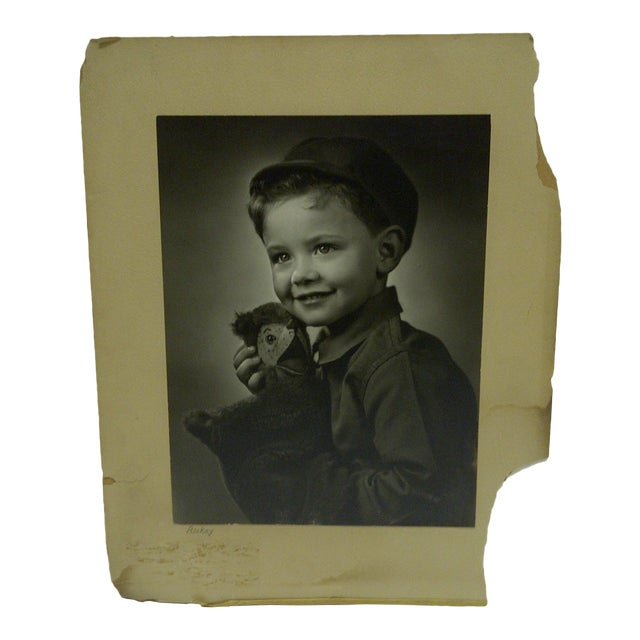 C. 1930 Black & White Photograph Ricky by Vincent Evans For Sale