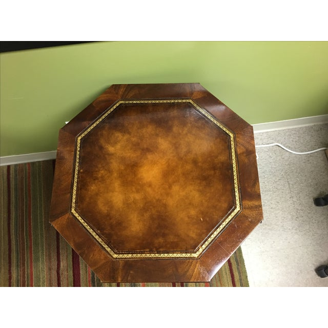 Vintage Weiman Octagonal Leather Top Table - Image 3 of 5