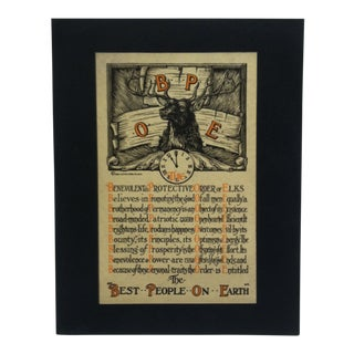 """""""The Best People on Earth"""" Mounted Elks Print For Sale"""