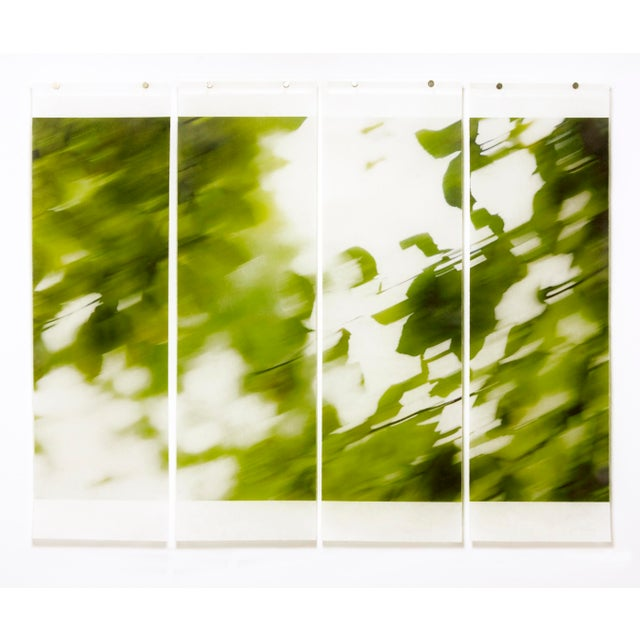 Seeking Shelter , No. 6, 2016, Archival pigment ink on kozo paper infused with encaustic medium by Jeri Eisenberg (quad).