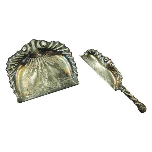 Antique Etched & Engraved Silver Butler's Set For Sale