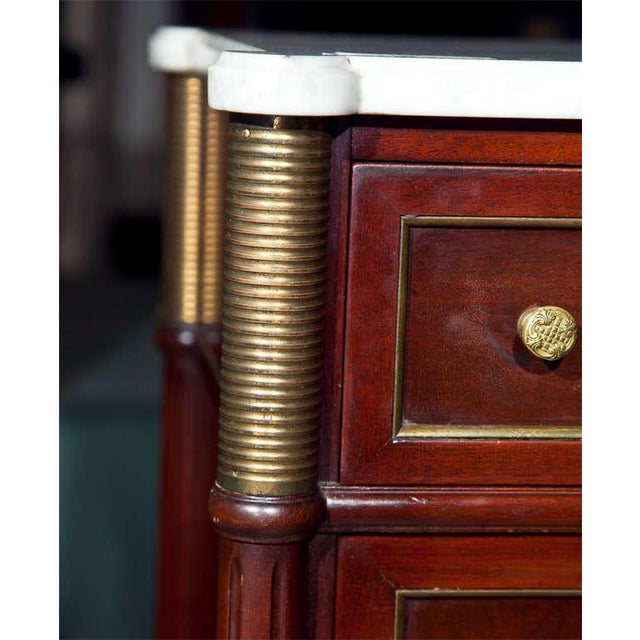 French Jansen Directoire Style Mahogany Chest of Drawers For Sale - Image 3 of 9