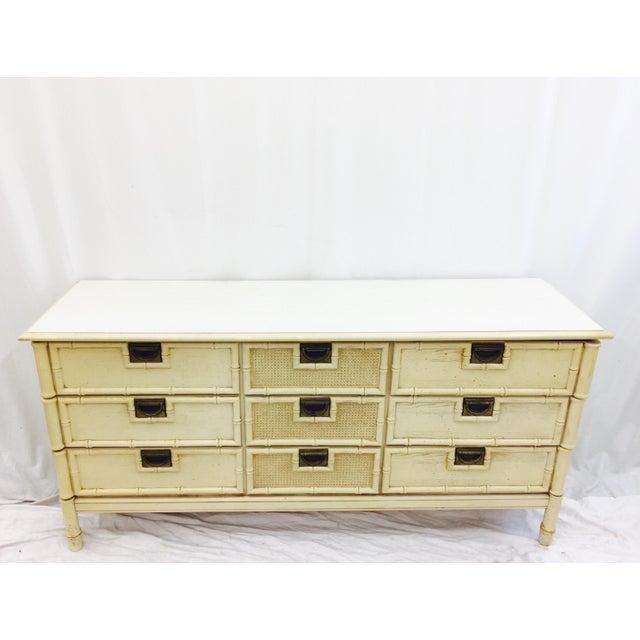 Vintage Faux Bamboo Dresser For Sale - Image 4 of 10
