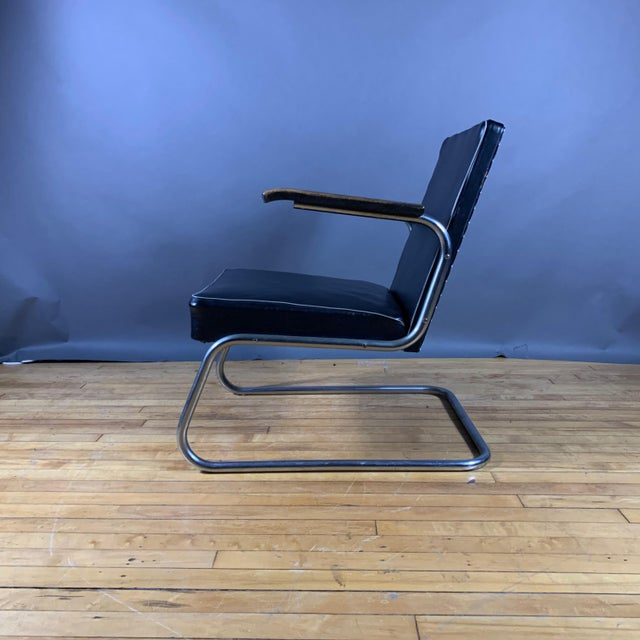 1950s Drabert Germany Cantilever Armchair For Sale - Image 12 of 12