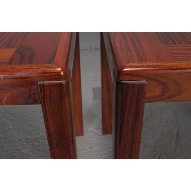 Pair of Danish Modern Rosewood Side Tables For Sale In Boston - Image 6 of 10