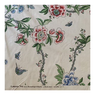 Brunschwig and Fils Flowering Tree Cotton Fabric- 4 Yards For Sale