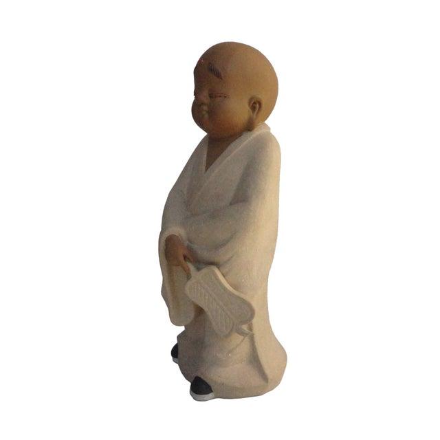Chinese Ceramic Monk Buddha Lo Han Figurine - Image 3 of 4