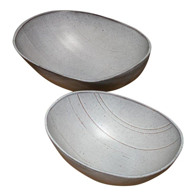Rare Set of Two Ceramic Bowls by Alessio Tasca For Sale