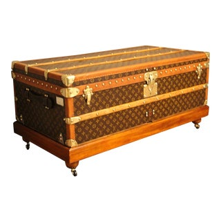 1930s Louis Vuitton Cabin Steamer Trunk For Sale