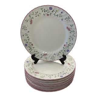 Vintage Johnson Brothers Summer Chintz Ironstone Dinner Plates- Set of 11 For Sale