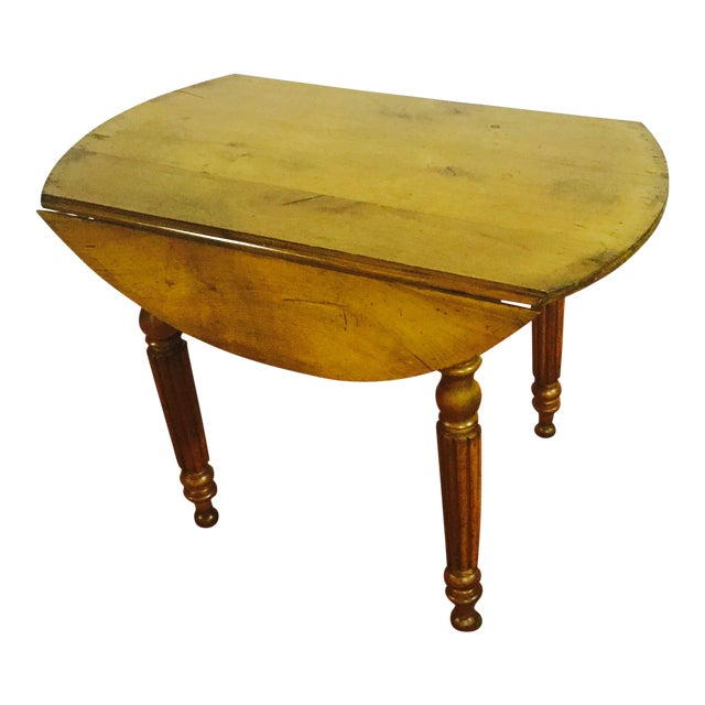 French Drop Leaf Cherry Table - Image 1 of 3