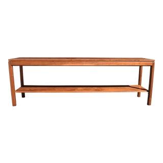 Vintage Mid-Century Modern Long Sofa Table