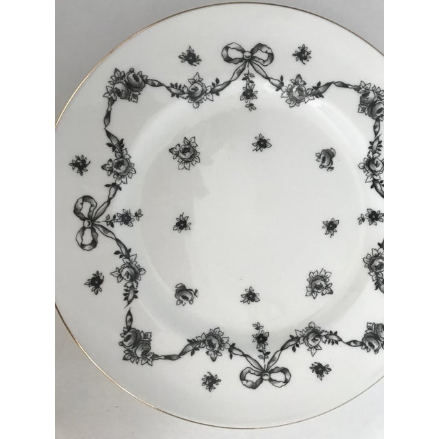 Antique Royal Victoria Black & White Floral Plate - Image 6 of 6