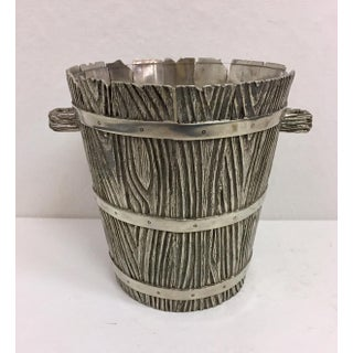 Vintage Ralph Lauren Pewter Bark Ice Bucket Preview