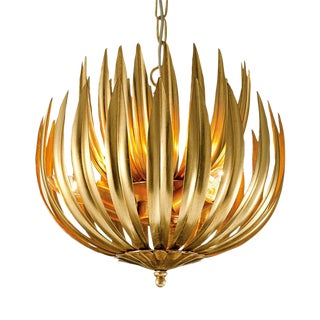 "Florentine Antique Gold Leaf Artichoke Light (13.8"") For Sale"