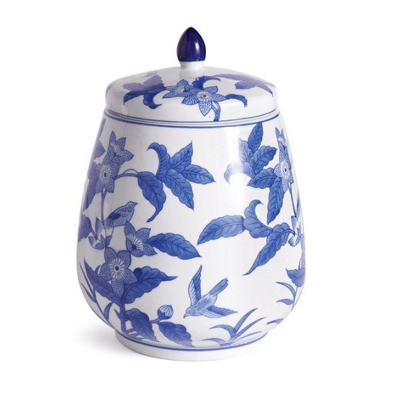 Ceramic Barclay Butera Blue & White Floral Ginger Jar For Sale - Image 7 of 7