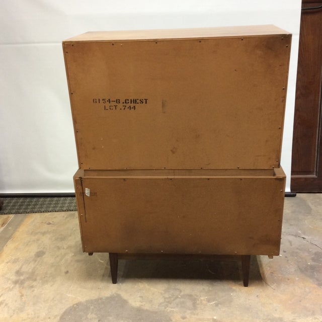 Mid-Century Modern Mid Century Modern American of Martinsville Atomic Age Chest of Drawers For Sale - Image 3 of 13