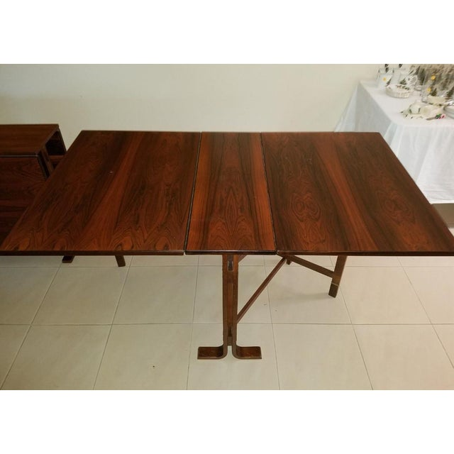 1970s 1970s Scandinavian Westnofa Rosewood Drop Leaf Banquet Dining Tables - a Pair For Sale - Image 5 of 10