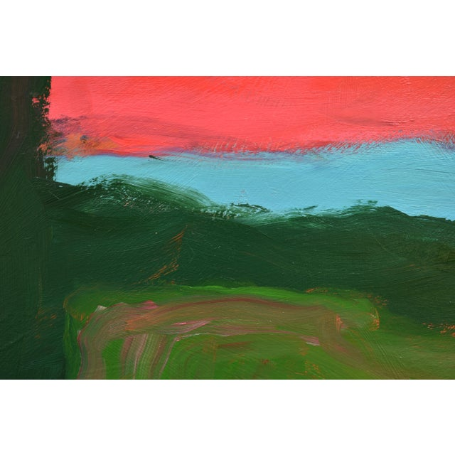"2010s 2010s Abstract Painting, ""Sunset over Fields"" by Stephen Remick For Sale - Image 5 of 10"