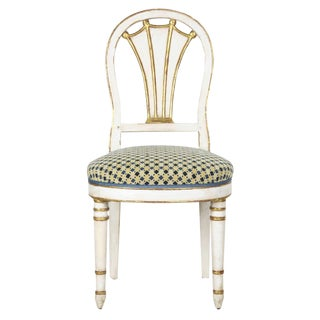 19th Century European Directoire White-Painted Side Chair For Sale