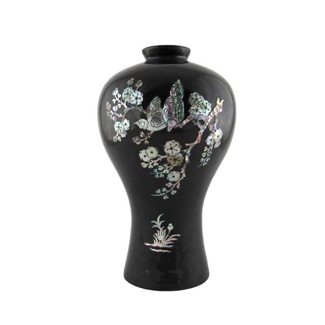 Surprising Vintage Korean Black Lacquer Over Brass Vase Cjindustries Chair Design For Home Cjindustriesco