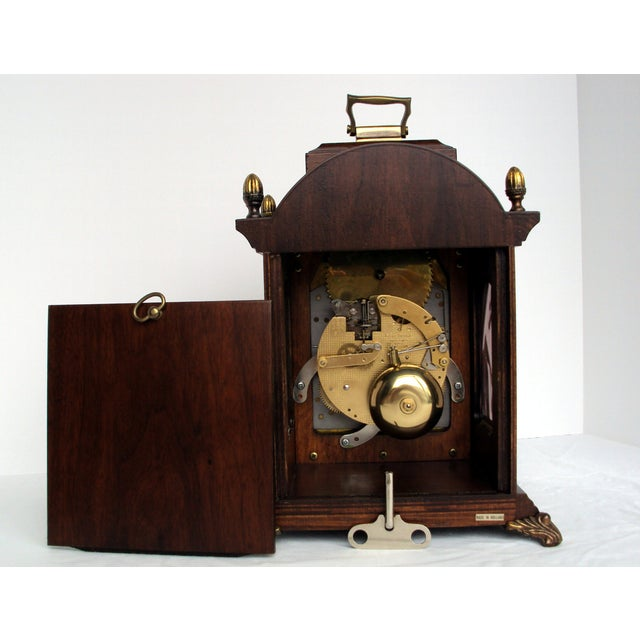 Vintage Franz Hermle Mantle Clock For Sale - Image 5 of 7
