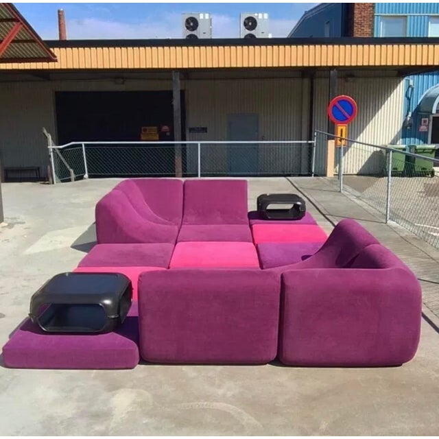 Mid Century Modern Space Age Panton Colombo Era Luigi Colani Pool Sofa For Sale - Image 11 of 11