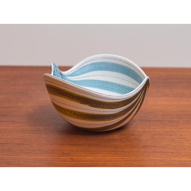 1950s 1950s Stig Lindberg for Gustavsberg Faience Leaf Bowls - a Pair For Sale - Image 5 of 11