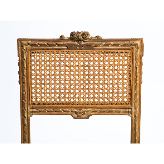 1920s Vintage Hand-Carved French Caned Side Chair For Sale In New York - Image 6 of 8