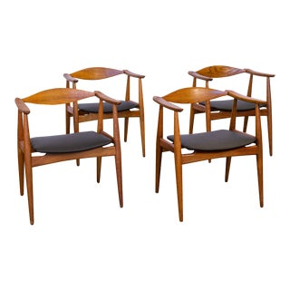 Wegner CH-35 Armchairs - set of 4 For Sale