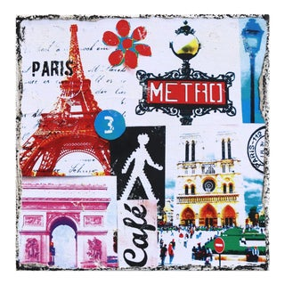"""Paris Metro"" Original Artwork by Marion Duschletta For Sale"