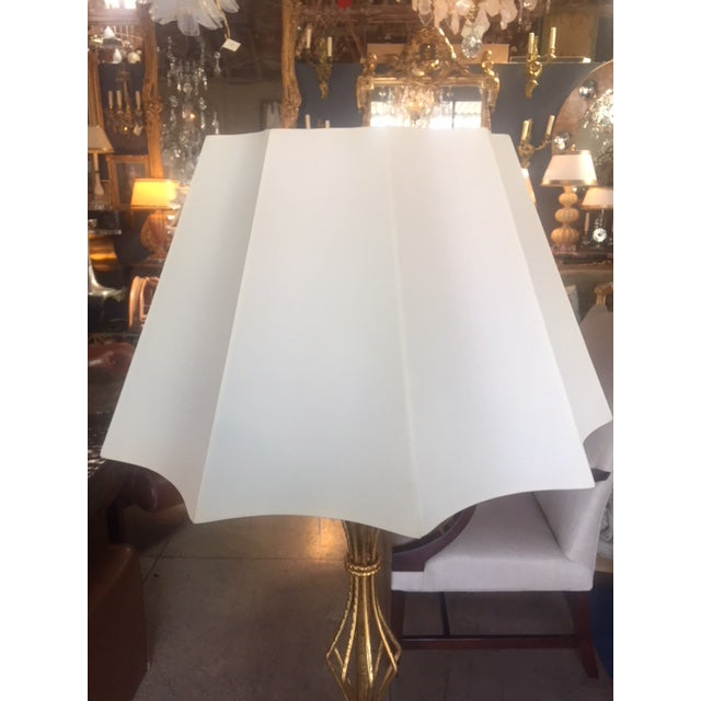 Vintage Spanish Gilt Iron Floor Lamp For Sale In Los Angeles - Image 6 of 10
