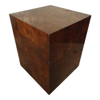 Mid-Century Modern Burlwood Patchwork Pedestal For Sale
