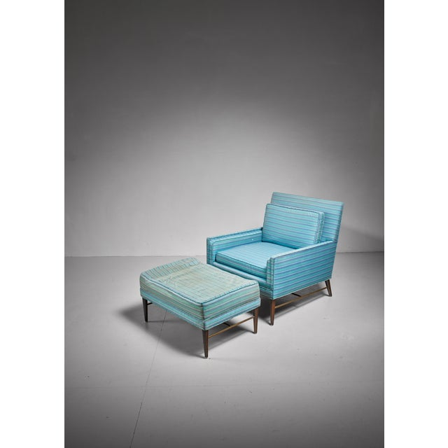 1950s Paul McCobb lounge chair with ottoman for Calvin, American, 1950s For Sale - Image 5 of 5