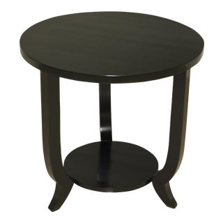 1940s French Art Deco Black Ebonized Coffee Table or Side Table . For Sale