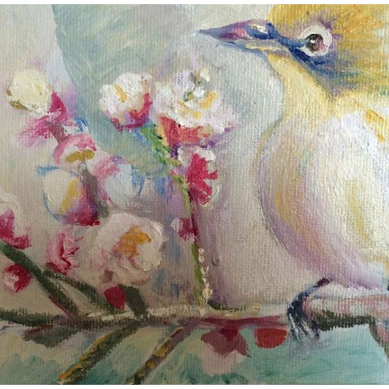 Nancy T. Van Ness Bird on Branch Oil Painting Print - Image 10 of 10