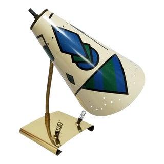 Mid-Century Gooseneck Desk Lamp With Geometric Design For Sale