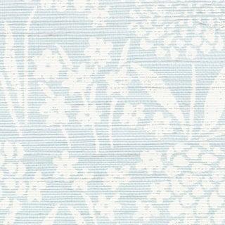 Schumacher Chrysanthemum Sisal Wallpaper in Sky For Sale