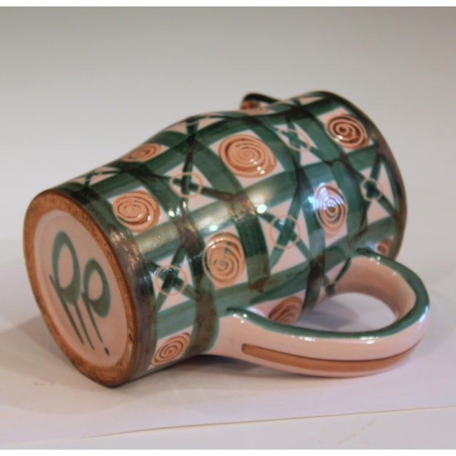 Vintage 1960s Robert Picault French Studio Pottery Geometric Pitcher For Sale In New York - Image 6 of 7