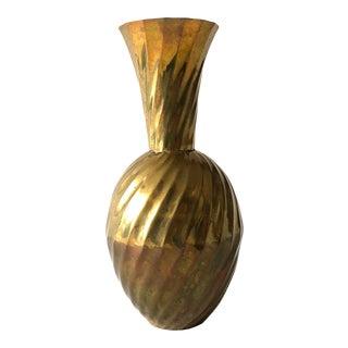 Mid-Century Brass Vase