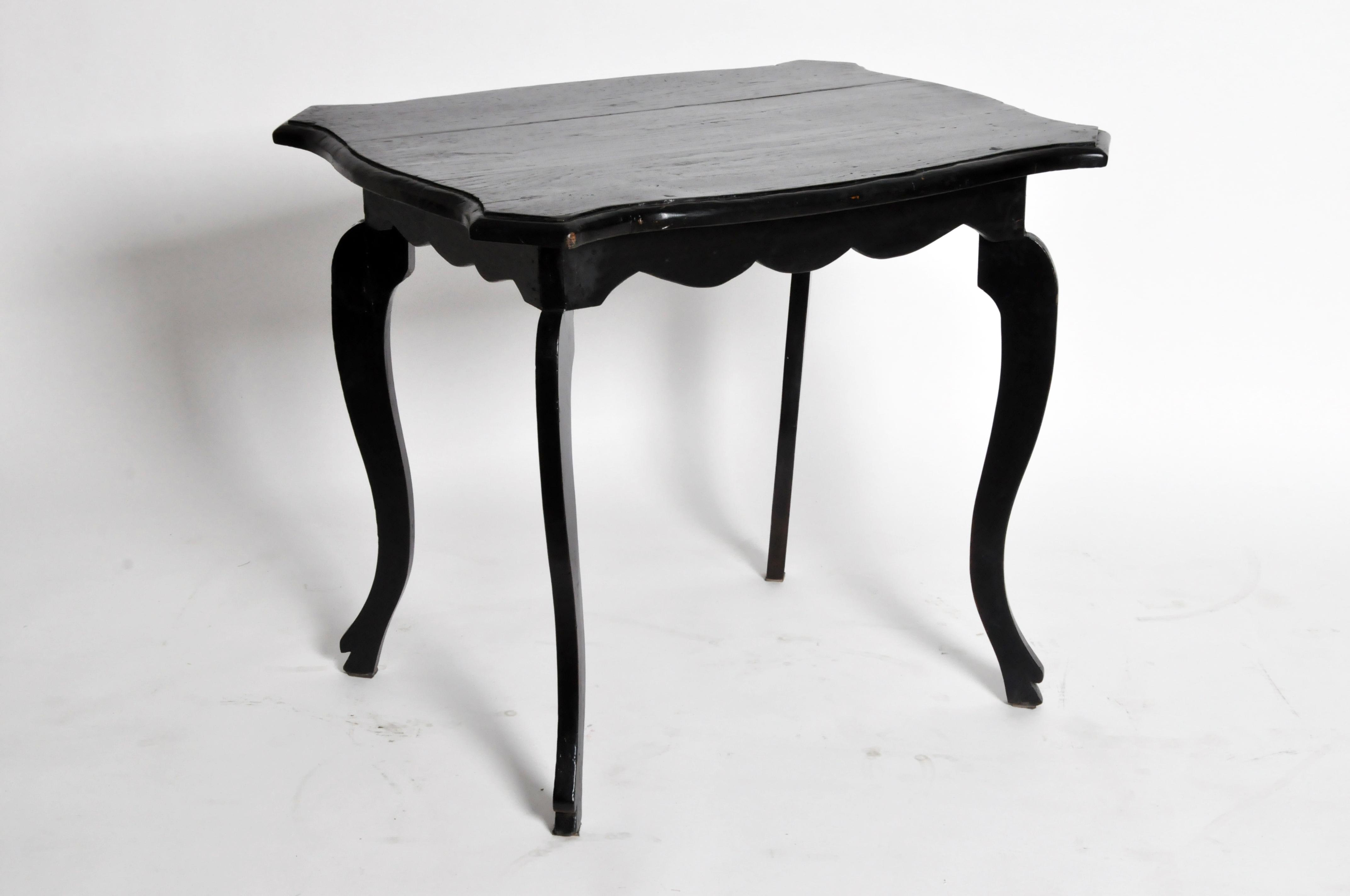 This British Colonial Tea Table Is From Burma And Is Made From Teak Wood,  Circa