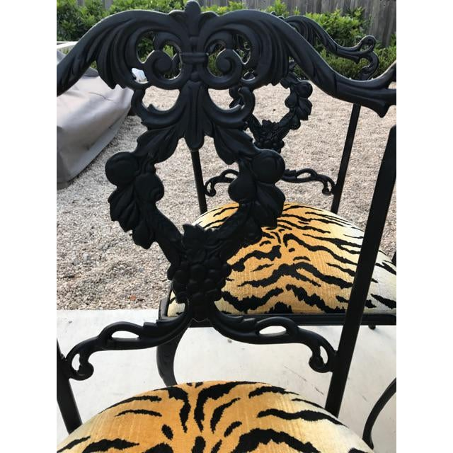 French Garden Chairs - Set of 4 - Image 5 of 6