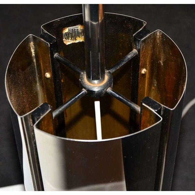 1970's special Chrome base lamp with plastic shade by Gaetano Sciolari.