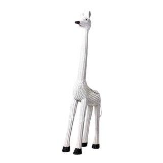 Large Mid Century Wicker Giraffe Planter For Sale