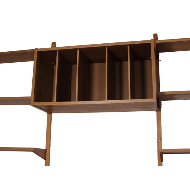 Mid-Century Modern Mid Century Danish 7 Bay Teak Shelving Unit by Ps System For Sale - Image 3 of 13