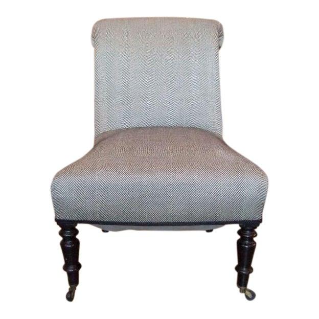 19th Century Napoleon III Slipper Chair For Sale