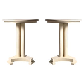 Classy Pair of Enrique Garcel Neoclassical Side Tables for Jimeco For Sale
